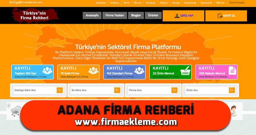Adana Firma Rehberi
