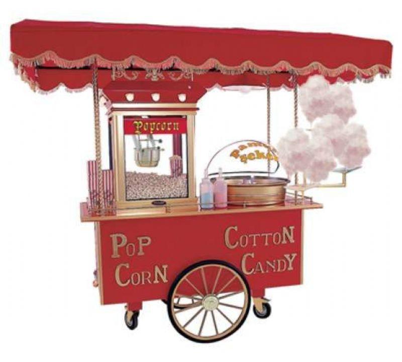 Pamuk Şeker Ve Popcorn Arabası Kiralama