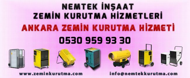 Ankara Zemin Kurutma Hizmeti