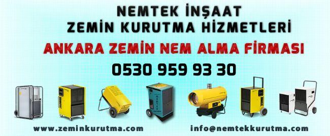 Ankara Zemin Nem Alma Firması