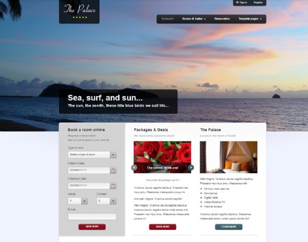 Hotel web Site Tasarımı