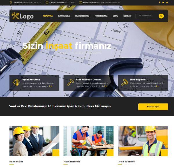 İnşaat Firma Web Tasarımı 1