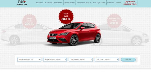Rio Rent A Car Web Sitesi